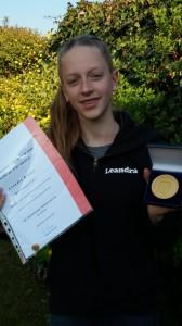 Bielefelder Sportplakette in GOLD für Leandra